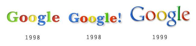 Restyling del logo Google negli anni